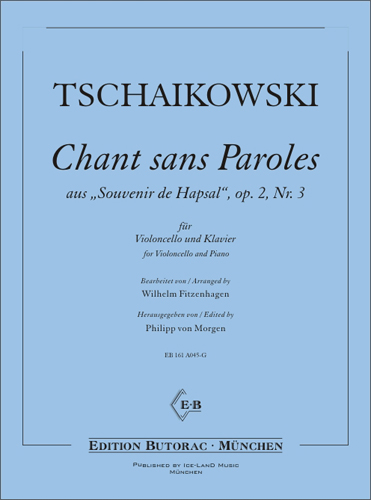 Cover - Tschaikowski Chant sans Paroles, op. 2, Nr. 3