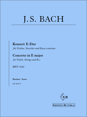 Cover - Bach, Concerto in E major