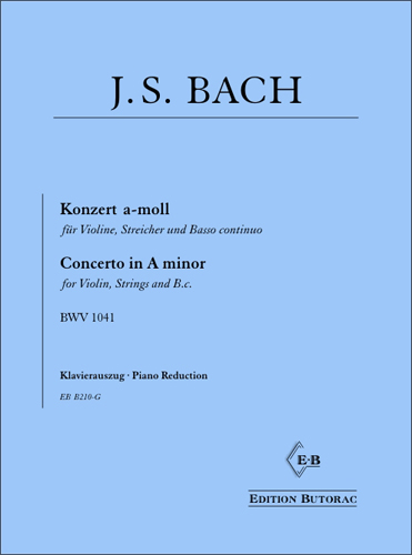 Cover - Bach, Concerto in A minor (BWV 1041)
