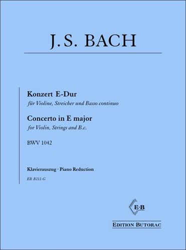 Cover - Bach, Concerto in E major (BWV 1042)