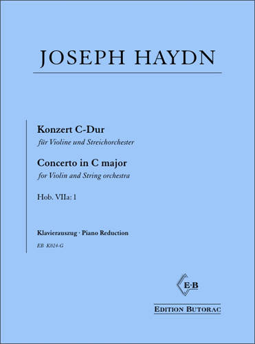 Cover - Haydn, Violin Concerto in C major (Hob. VIIa: 1)