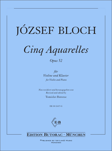 Cover - Bloch, Cinq Aquarelles, op. 52