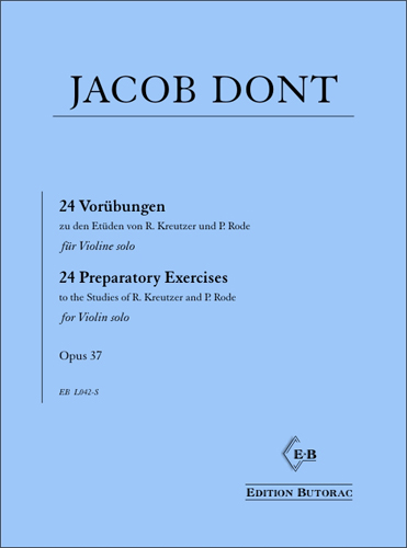 Cover - Jacob Dont, 24 Preparatory Exercises op. 37