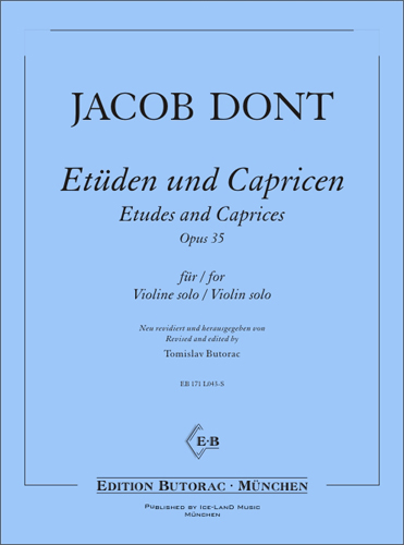 Cover - Jacob Dont, Etüdes and Caprices op. 35