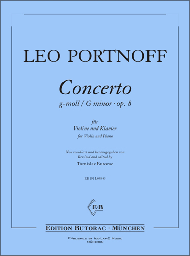 Cover - Portnoff, Concerto in G minor op. 8