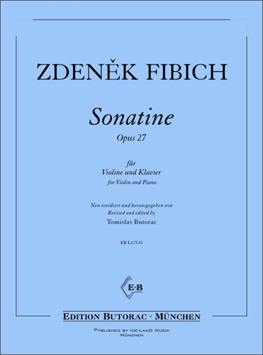 Cover - Fibich, Sonatina in D minor op. 27