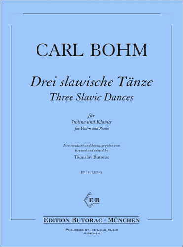 Cover - Bohm, Three slavic Dances