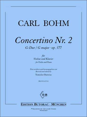 Cover - Carl Bohm, Concertino No. 2