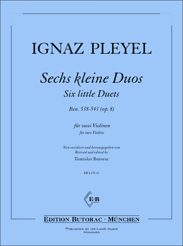 Cover - Ignaz Pleyel, Six little Duets op. 8