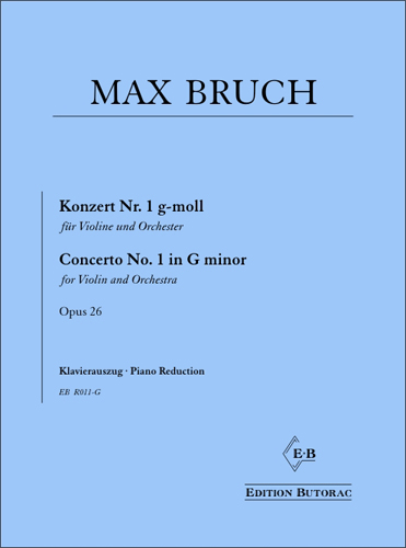 Cover - Bruch, Violin Concerto No. 1 in G minor op. 26