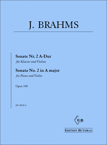 Cover - Brahms, Sonata No. 2 in A major op. 100
