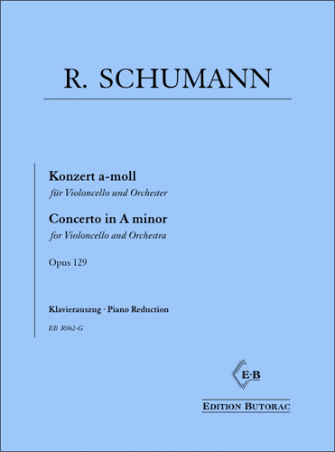 Cover - Schumann, Concerto in A minor op. 129