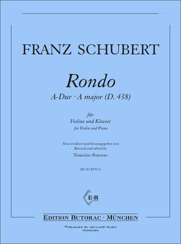 Cover - Schubert, Rondo in A-Dur (D 438)
